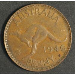 Australia 1946 Penny Good VF/ Near EF