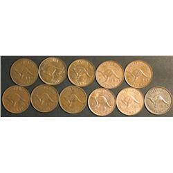 Australia Pennies EF to Uncirculated
