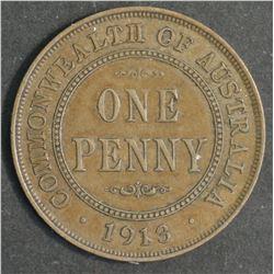 Australia Penny 1913