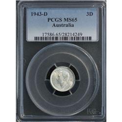 Australia 1943 D Threepence