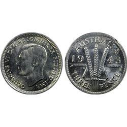 Australia 1943 S Threepence