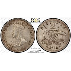 Australia 1914 Sixpence