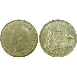 Australia Sixpence 1946