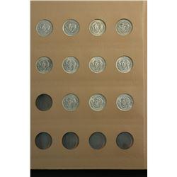 Australia Shilling Collection 1953 to 1963 in Dansco Supreme (used)