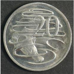 Australia 1981 Canada Mint 31/2 Claw Variety 20 cent