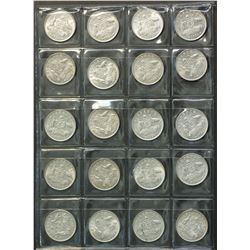 Australia Lot of 1954 Sixpence 20 Coins Gem Unc Ex Roll