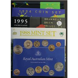 Australia Mint Sets 1984,1988  , 1992,1994,1995,