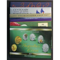 Australia Mint Sets 1998,1999,2001,2002,2004