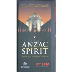 Anzaac Spirit 2018 Coin Collection In Folder as issue