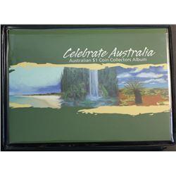 Australia Celebrate Australia $1 Coloured Silver Prrof
