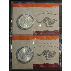2002 $1 Silver Kangaroos