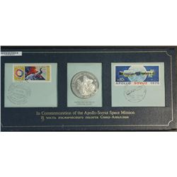 Apollo Soyez Space Mission Stamps & Silver Medal