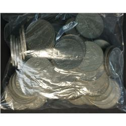 Bag of Cupro Nickel World Crowns 55 Pieces, Good Variety