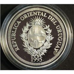Uruguay 200 Pesos 1995 UN Silver Proof