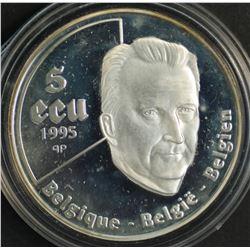 Belguim 5 Ecu Silver Proof 1995