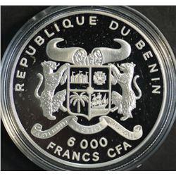 Benin 600 Francs 1995 Silver Proof