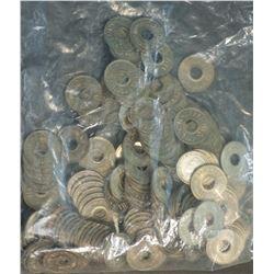 Fiji 1954 Halfpennies BU (100 Coins)