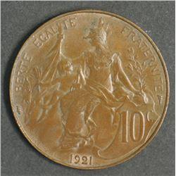 France 10 Cent 1921
