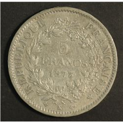 France 5 Franc 1873