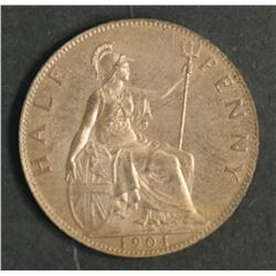 Great Britain 1901 Half Penny