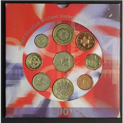 Great Britain 2001 Mint Set includes Two scarce 2 pounds