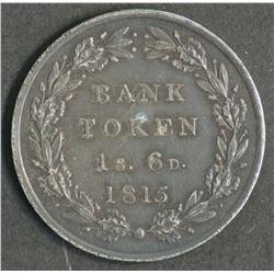 Great Britain Bank Token 1 shilling & Sixpence 1813