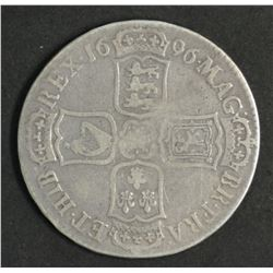 Great Britain Half Crown 1696