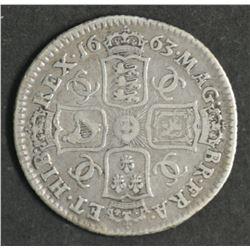 Great Britain Shilling 1663