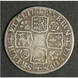 Great Britain Shilling 1725 Roses & Plumes
