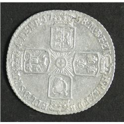 Great Britain Sixpence 1758