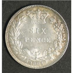 Great Britain Sixpence 1881