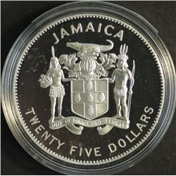 Jamaica $25 1995 Silver proof