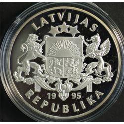 Latvia 1995 1 Lats Silver Proof