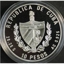 Cuba  10 Pesos UN 1995 Proof In Capsule
