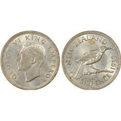 New Zealand 1939 Sixpence