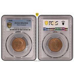 New Zealand Half Penny PCGS 1946 MS 65 RB
