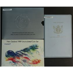 New Zealand Mint Sets 1988, 1989 & 1992