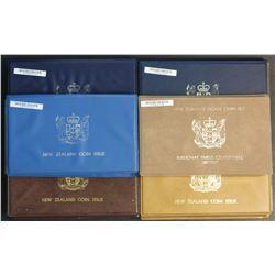 New Zealand Proof Sets 1975, 1976, 1978, 1981, 1985, 1987