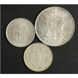 South Africa 1/2 Crown 1954, Shillings 1954 & 1956