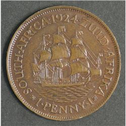 South Africa 1924 Penny