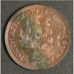 South Africa 1954 Halfpenny
