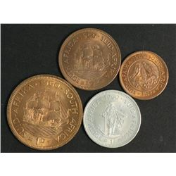 South Africa 1960 Farthing, 1/2 Penny , Penny Shilling