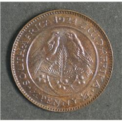 South Africa Farthing 1924