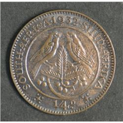 South Africa Farthing 1932