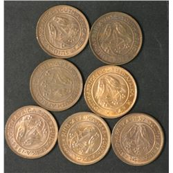 South Africa Farthings 1950,51,52,54,55,56,57