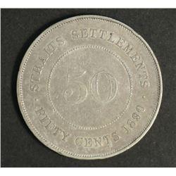 Straits Settlements 50 Cents