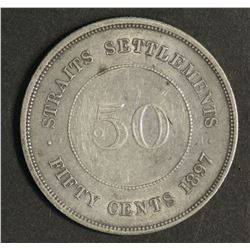 Straitts Settlemenmts 50 c 1897 H Extremely Fine