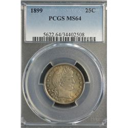 USA 25 Cents 1899 PCGS MS 64