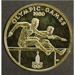 Western Somoa $100 Gold 1980