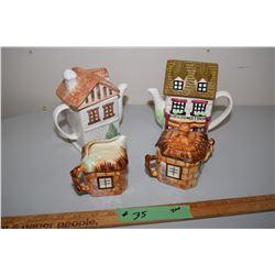 China Teapots And English Cream And Sugar